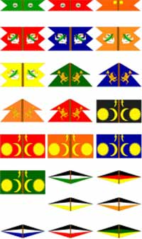 Maratha Irregular Flags Set